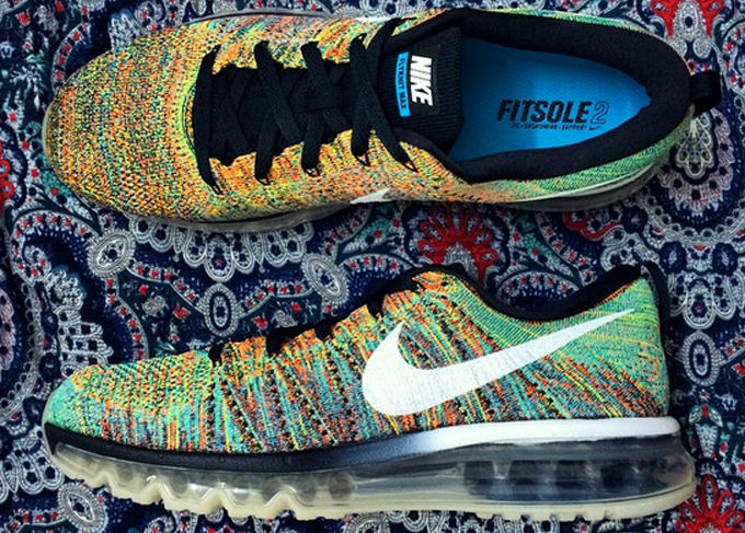 nike air max multicolor flyknit