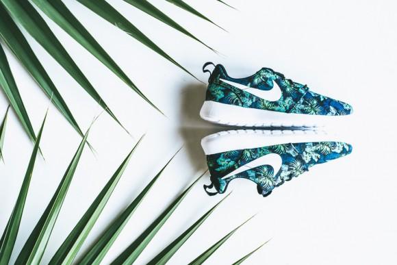 Nike Roshe Run Print Space Blue: Blue Jade2