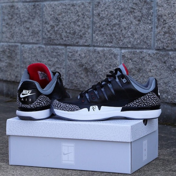 Nike Zoom Vapor 9 Tour x Air Jordan 3 'Black Cement' Teaser1