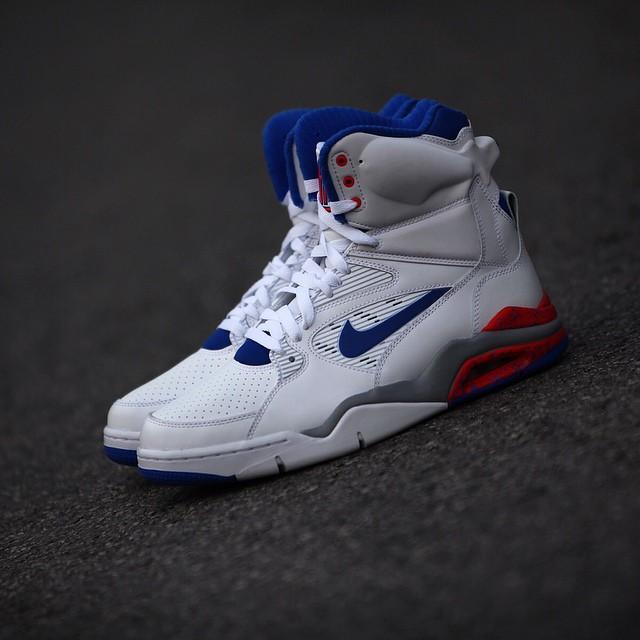 Nike Air Command Force White: Lion Blue- Bright Crimson3