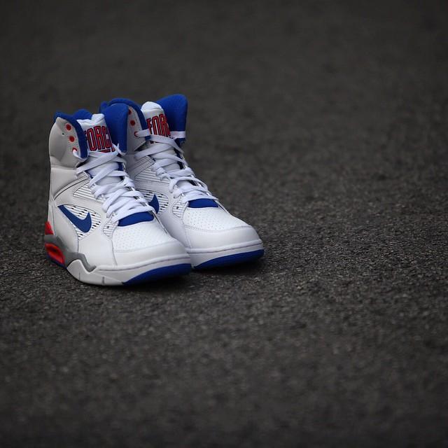 Nike Air Command Force White: Lion Blue- Bright Crimson4
