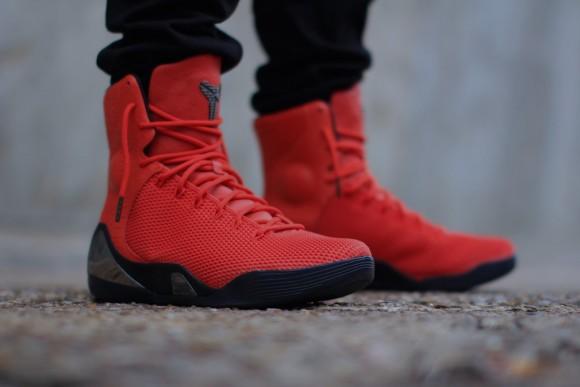 Nike Kobe 9 KRM EXT 'Challenge Red' – On-Feet Look4