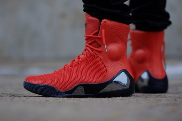 Nike Kobe 9 KRM EXT 'Challenge Red' – On-Feet Look7