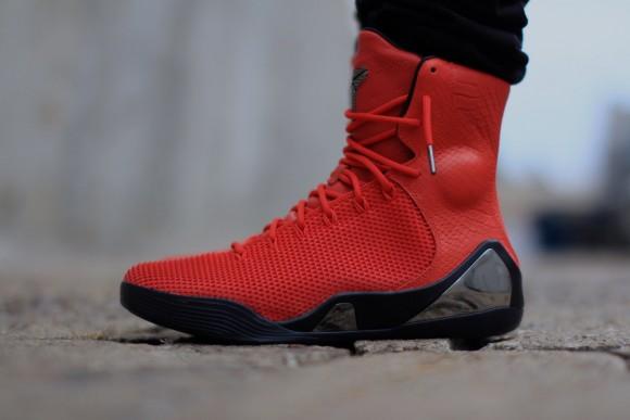 Nike Kobe 9 KRM EXT 'Challenge Red' – On-Feet Look8