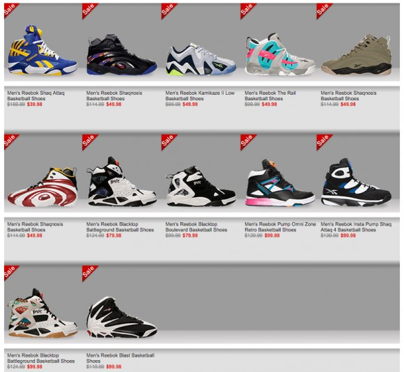 Finish Line Reebok Sale Two for $100