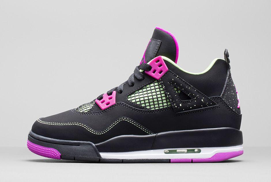 Girls Air Jordan 4 Retro 'Fuchsia