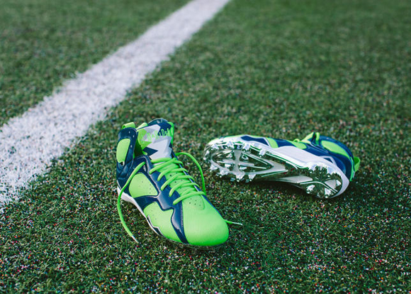 Earl Thomas Air Jordan VII Cleat 5