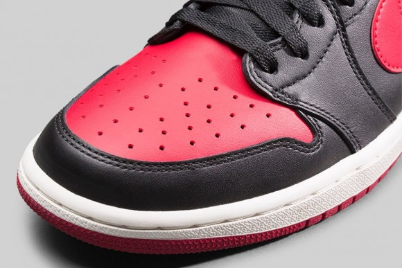 Air Jordan 1 Retro Low OG 'Black: Red' - Official Look + Release Info 6