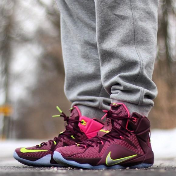 buy online 7f3aa cd571 Nike LeBron 12 'Double Helix' – On-Feet Look - WearTesters