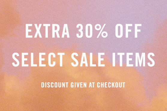30 off sale ends tonight