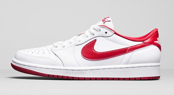 Air Jordan 1 Retro Low Og White Varsity Red Official