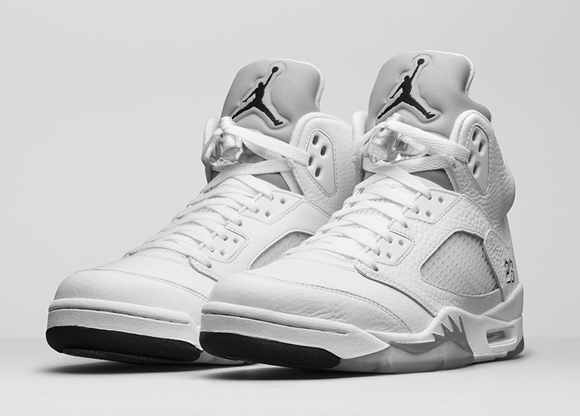 Air Jordan 5 Retro White Metallic Silver – Official Look + Release Info 1