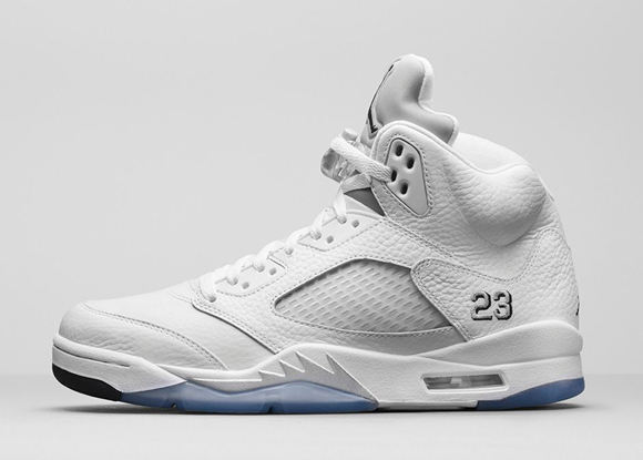 Air Jordan 5 Retro White Metallic Silver - Official Look + Release Info 2