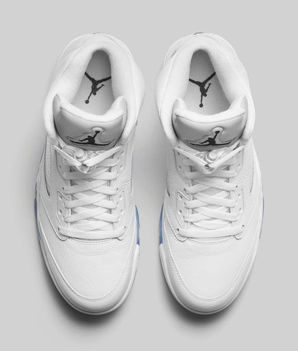 Air Jordan 5 Retro White Metallic Silver - Official Look + Release Info 3
