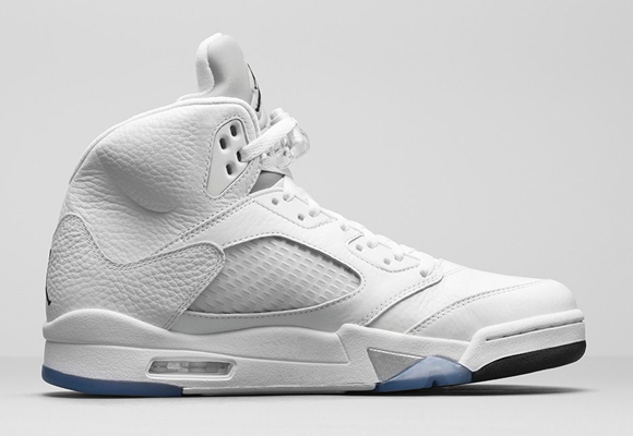Air Jordan 5 Retro White Metallic Silver - Official Look + Release Info 6
