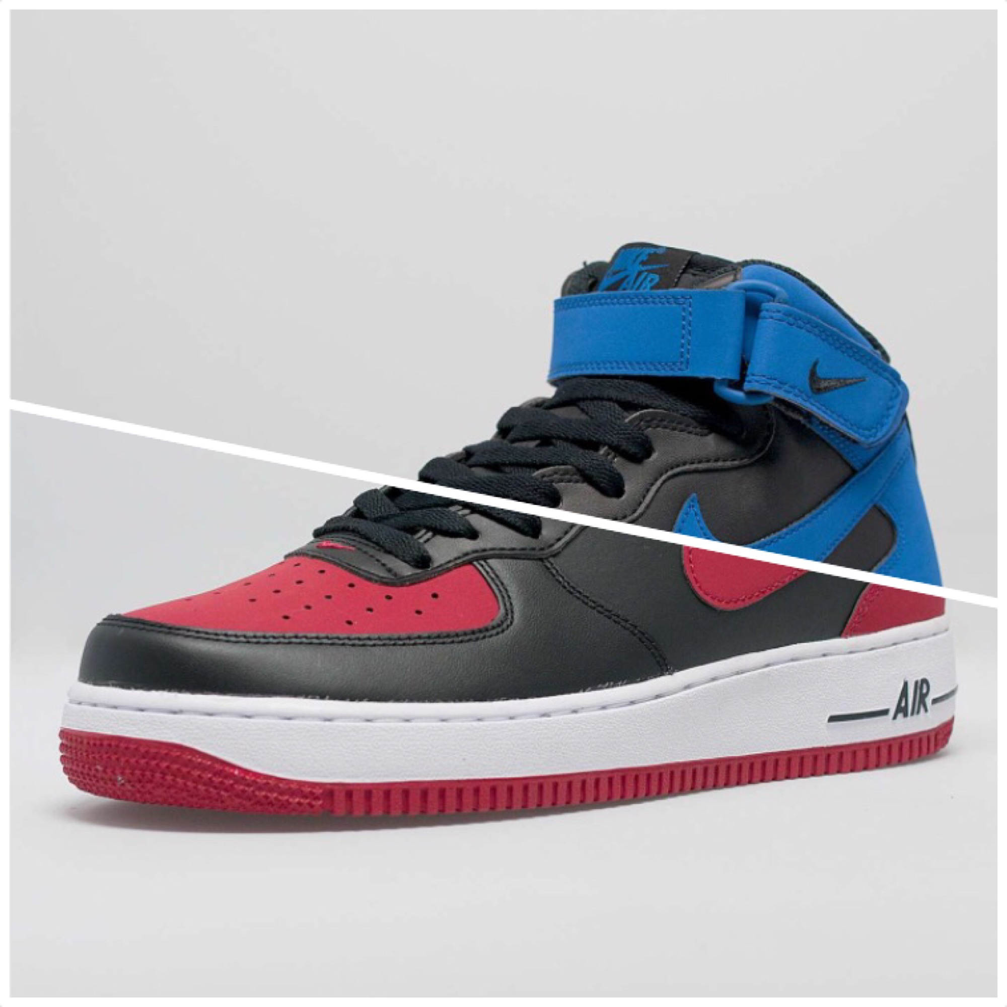 Nike Air Force 1 Mid 'Royal' & 'Bred'