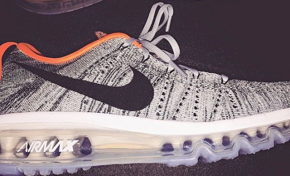 Nike Flyknit Air Max Grey: Orange