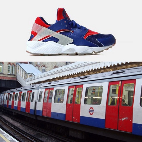 Nike Air Huarache City Pack London train