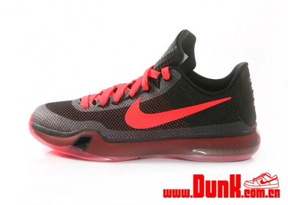Nike Kobe X GS Black: Crimson 1