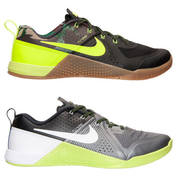 Nike Metcon 1 Trainer Camo Volt and dark grey
