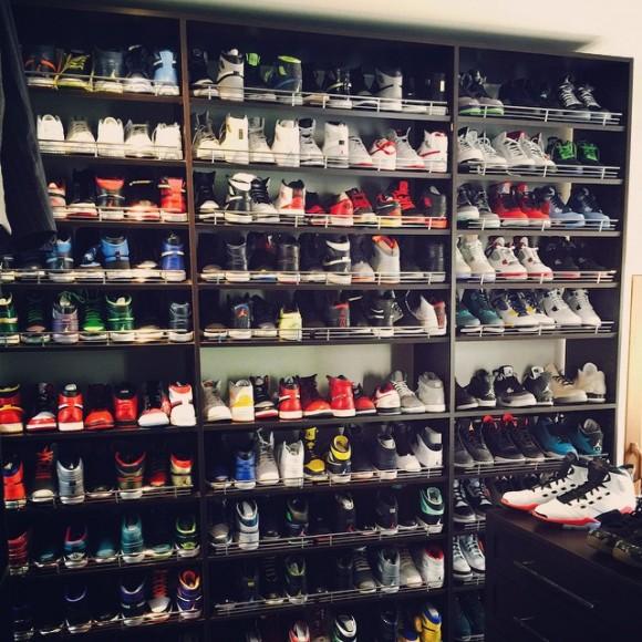 Ray Allen's Vast Sneaker Collection with Plenty of Air Jordans 1