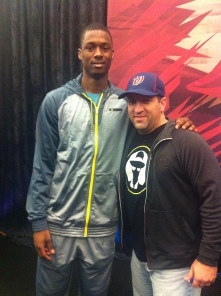 Bryan with Harrison Barnes