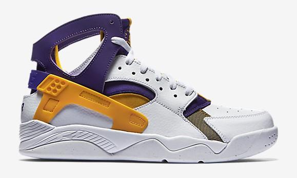 Nike Air Flight Huarache 'Los Angeles Lakers' lateral