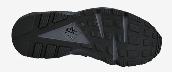 Nike Air Huarache 'Triple Black' bottoms outsole