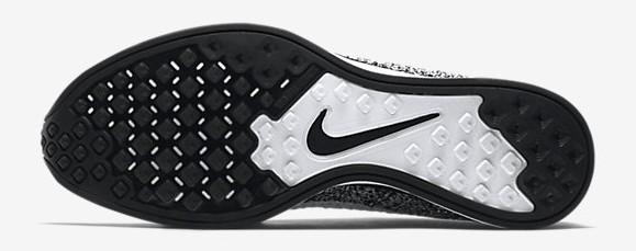 Nike Flyknit Racer Black: White outsole bottoms