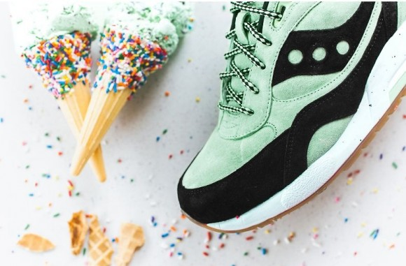 Saucony G9 Shadow 6 'Mint Chocolate Chip' ice cream