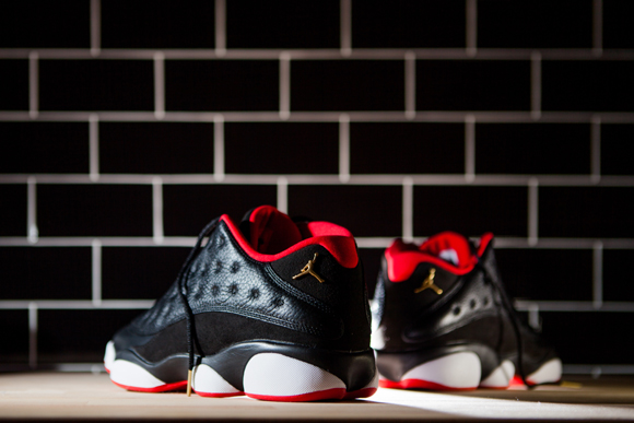 Get Up Close & Personal With The Air Jordan 13 Retro Low 'Black Red'  3