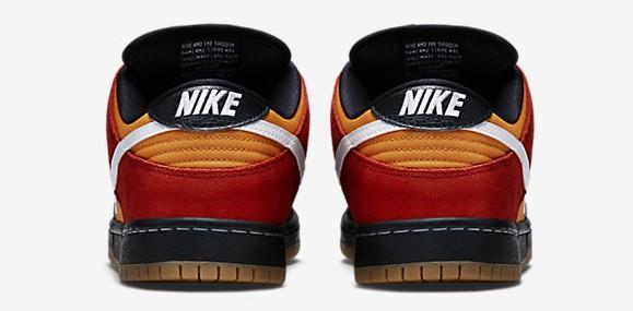 Nike Dunk Low SB Pro 'Magmar' heel view