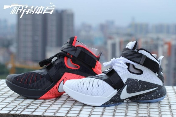 Two Nike Zoom Soldier 9's With Reflective Camo Straps 1