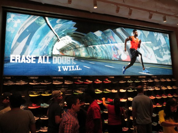 UA Orlando Shoe Wall with Mural