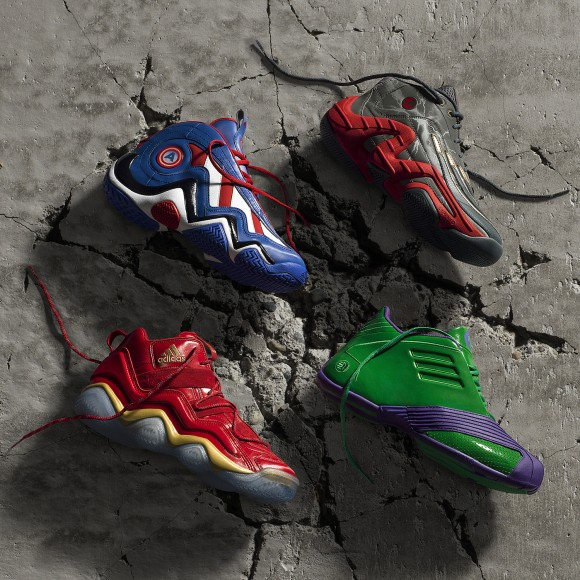 adidas x Marvel's Avengers Unveil Basketball Shoe Collection 1