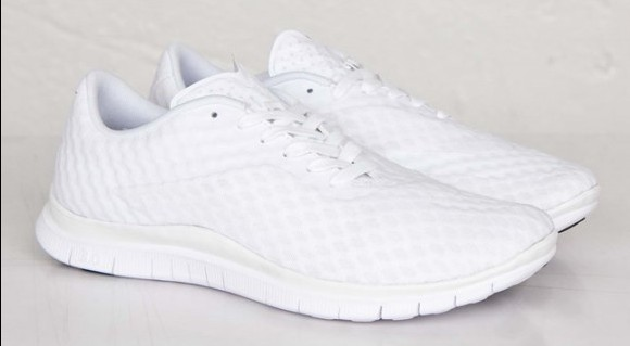all-white Nike Free Hypervenom Low
