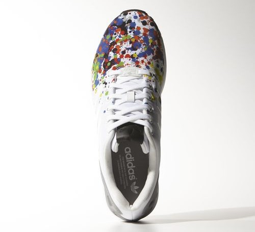 didas ZX Flux 'Splatter' top view
