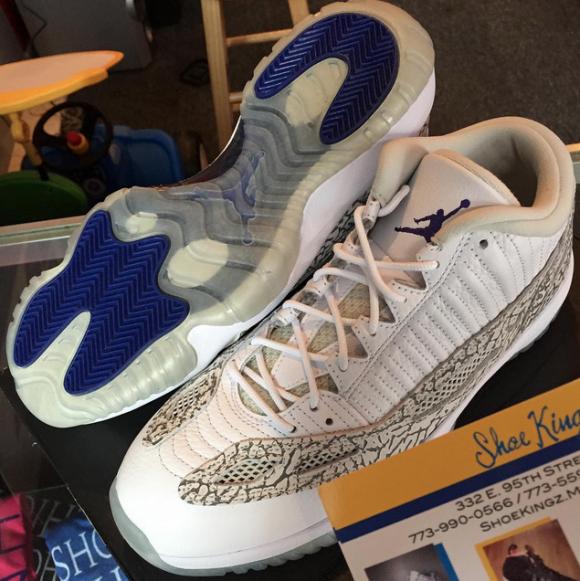 A Look At The 2015 Air Jordan 11 Low IE Retro 'Cobalt' 2