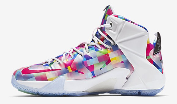 Nike LeBron 12 EXT Finish Your Breakfast Fruity Pebbles medial