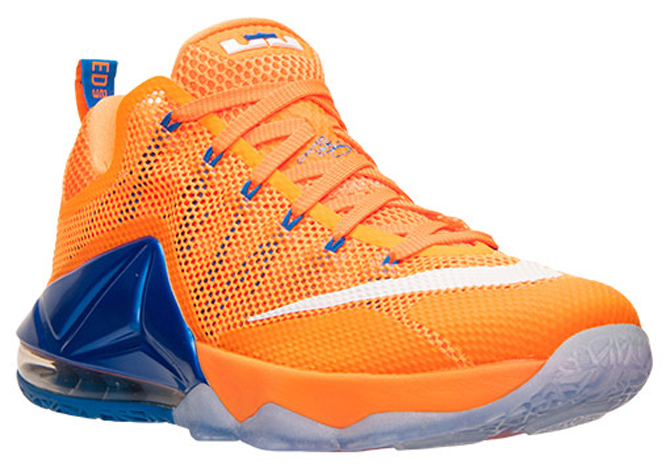 Nike LeBron 12 Low bright citrus orange blue