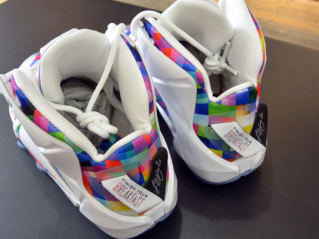 Nike LeBron 12 'Prism' heel