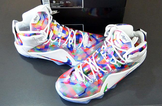 Nike LeBron 12 'Prism' top view