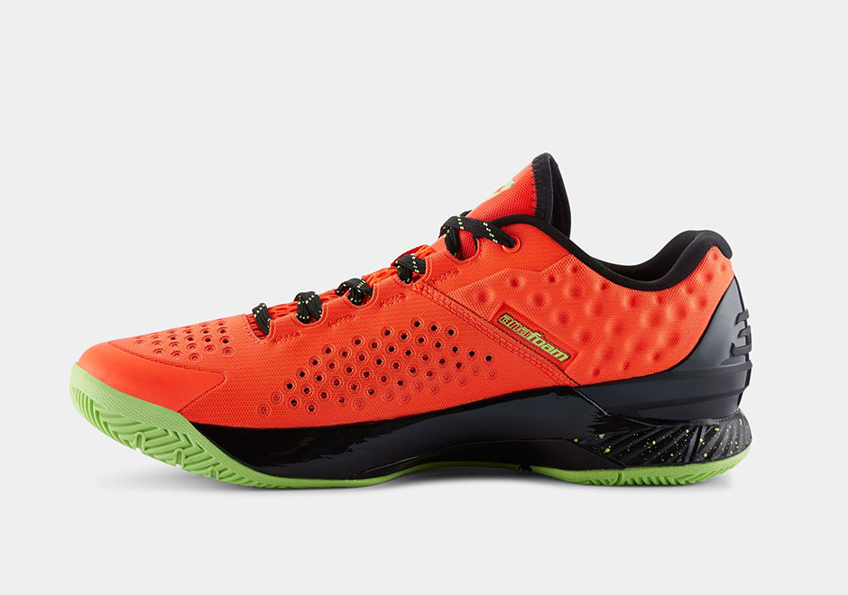 Under Armour Curry One Bolt Orange medial