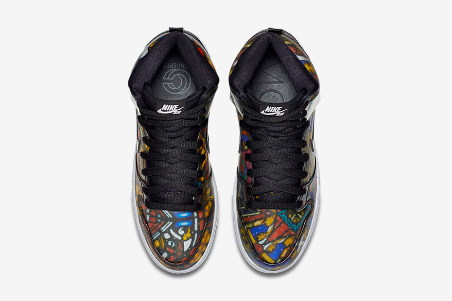 concepts nike dunk high sb holy grail top view