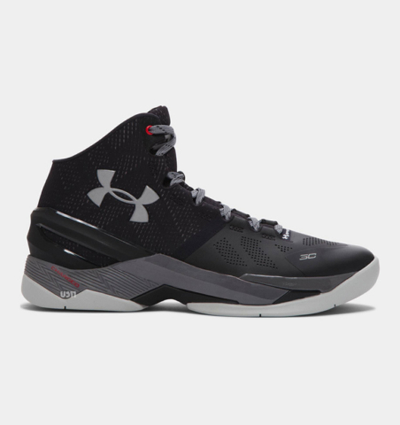 Get a Detailed Look at The Under Armour Curry Two in Black Grey 1