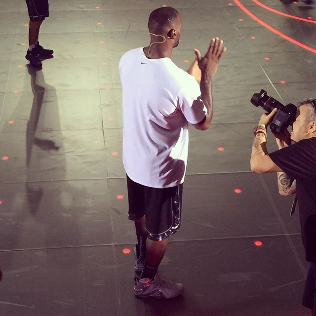 LeBron rocking the Nike LeBron 12 Elite Pigalle 2
