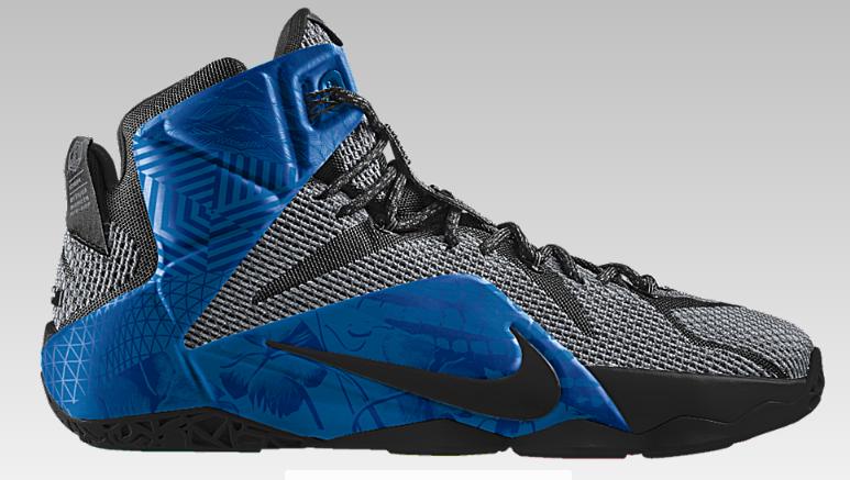 Nike iD LeBron 12 Unlocked pattern