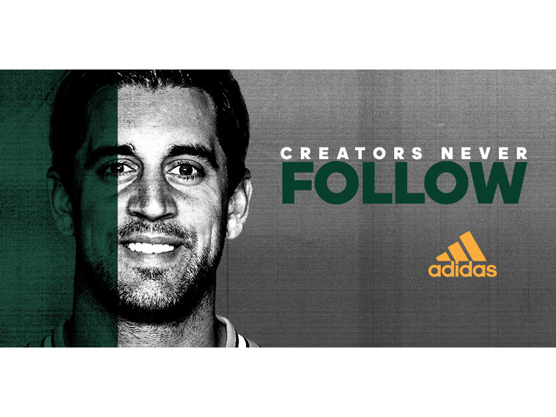 NFL MVP Aaron Rodgers Joins adidas