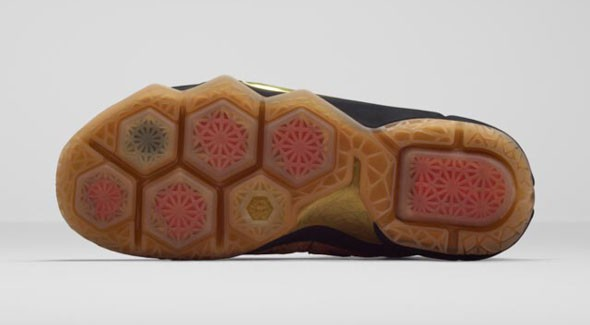 Nike LeBron 12 EXT 'King's Cork' outsole bottoms