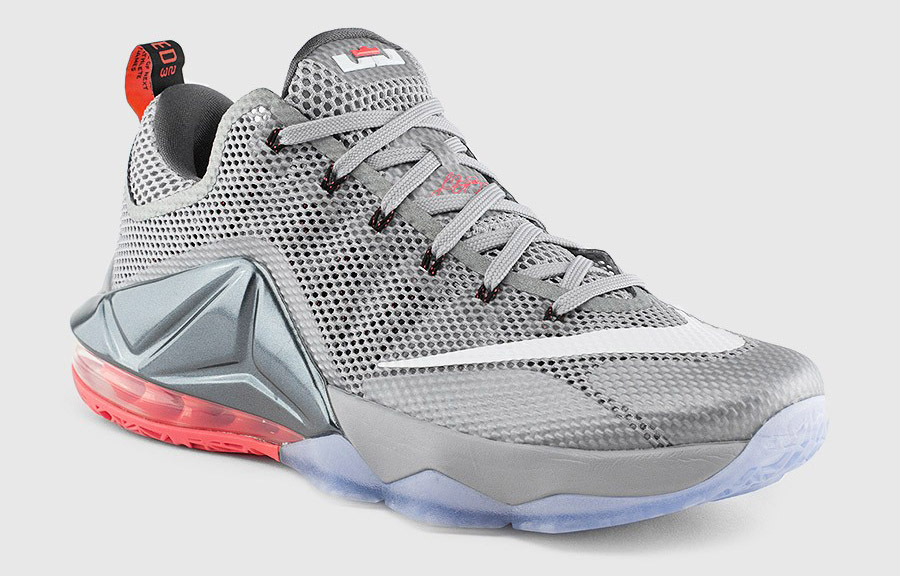 newest d8ae9 f5df7 Nike LeBron 12 Low grey red - WearTesters